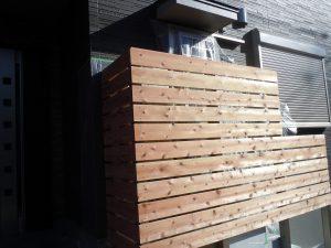 板塀で自然なパーテーションを!